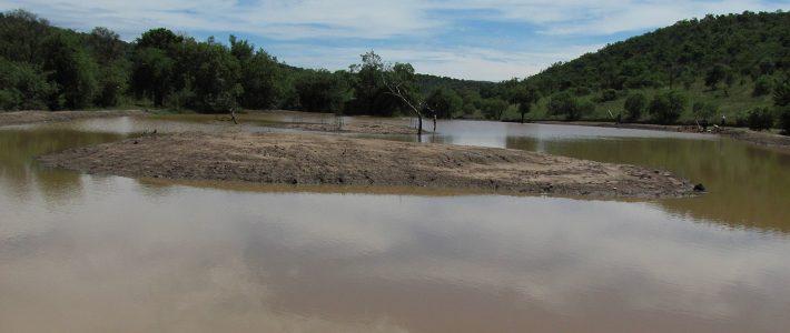 Dam at entrance